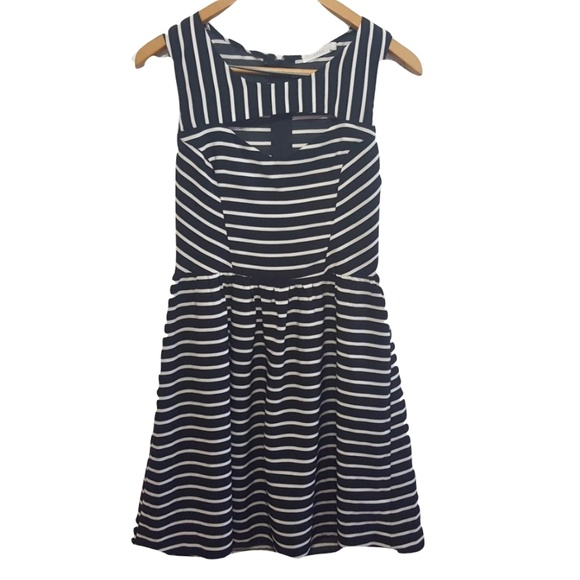 Lush Dresses & Skirts - Lush Fit & Flare / Skater Dress B/W Cutout Sz L